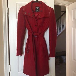 Guess Belted Wool Trench Coat Jacket Small
